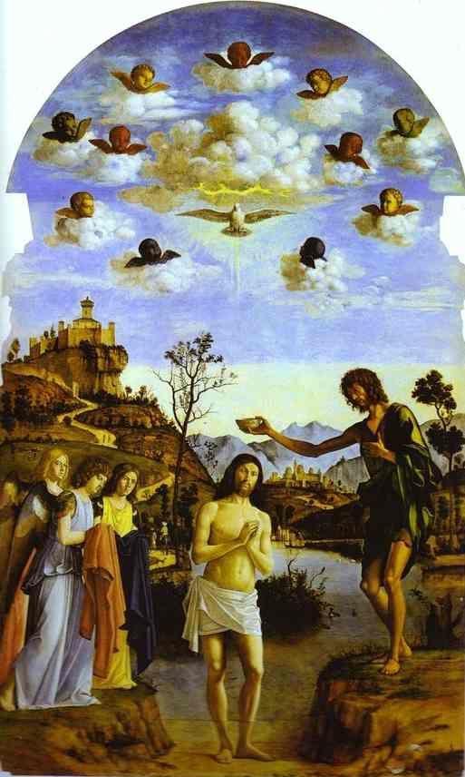 Cima da Conegliano. Baptism of Christ in the Jordan.