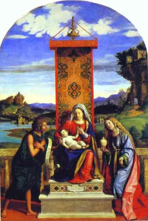 Cima da Conegliano. Madonna and Child between St. John the Baptist and St. Mary Magdalen.