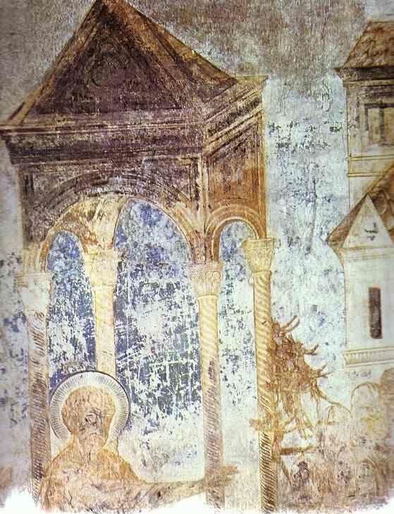 Cimabue. Healing of a Sick Man. Detail.
