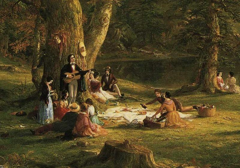 Thomas Cole. The Pic-Nic. Detail.