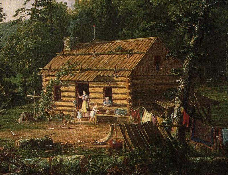 Thomas Cole. Home in the Woods. Detail.