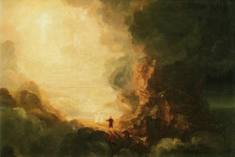 Thomas Cole. Study for The Cross and the World: The Pilgrim of the Cross at the End of His Journey.