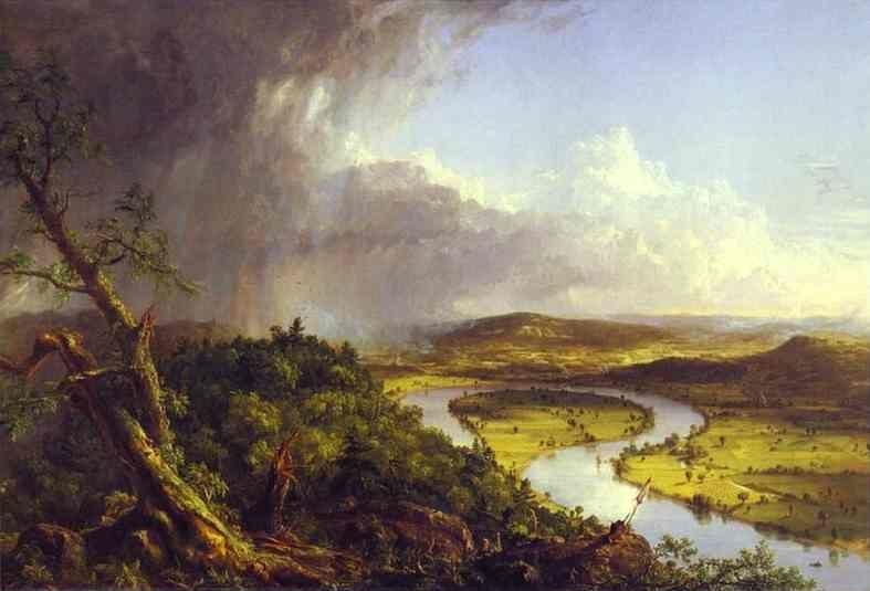Thomas Cole. The Oxbow (The Connecticut River near Northampton).
