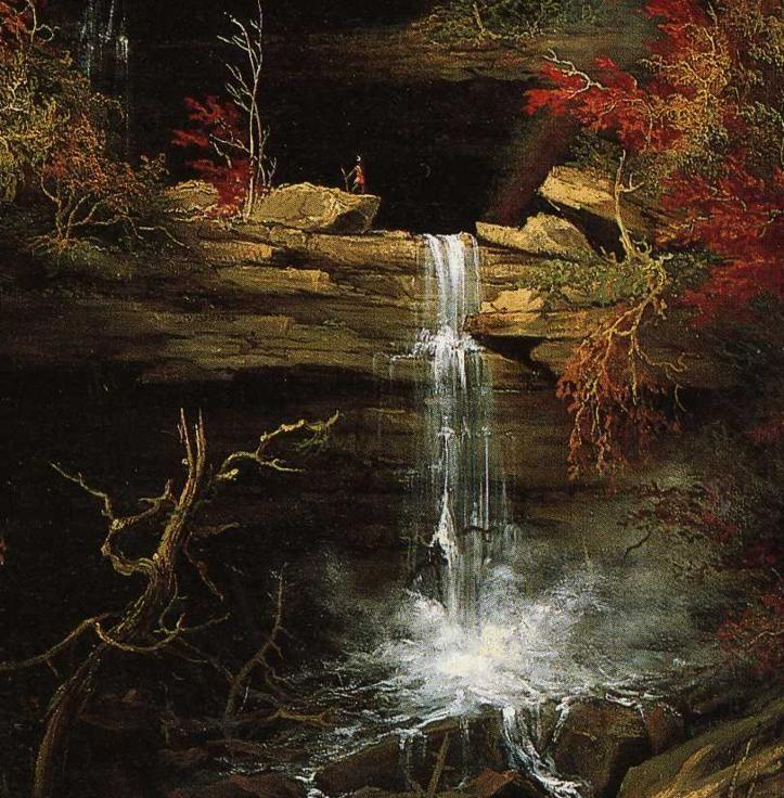 Thomas Cole. Falls of Kaaterskill. Detail.