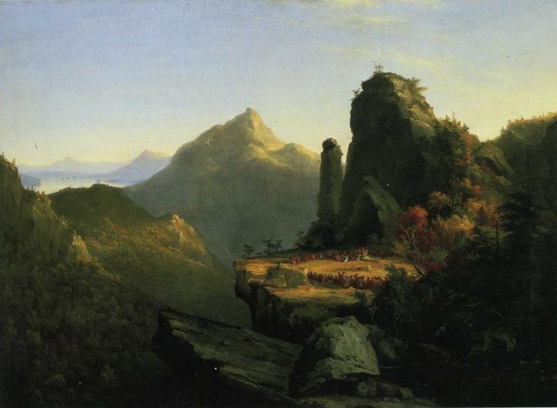 Thomas Cole. Landscape Scene from ""