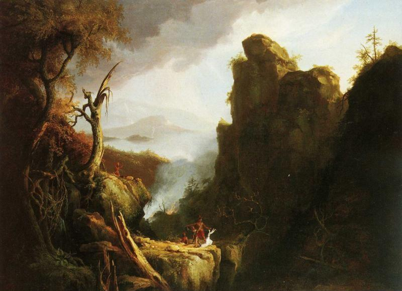 Thomas Cole. Indian Sacrifice.
