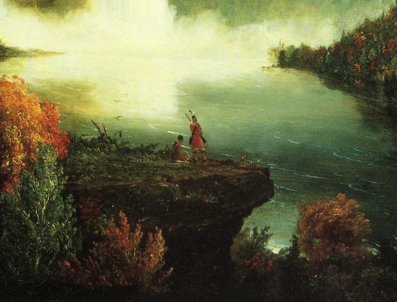 Thomas Cole. Niagara Falls. Detail.