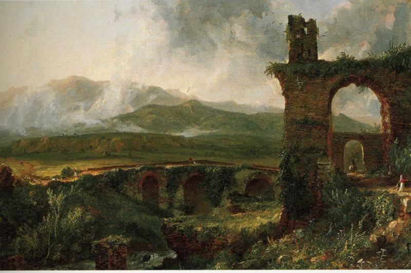 Thomas Cole. A View near Tivoli (Morning).