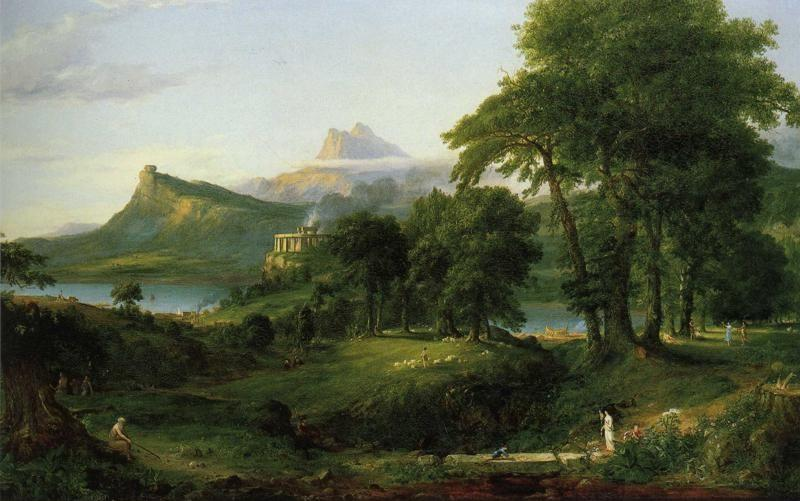 Thomas Cole. The Course of Empire: The Arcadian or Pastoral State.