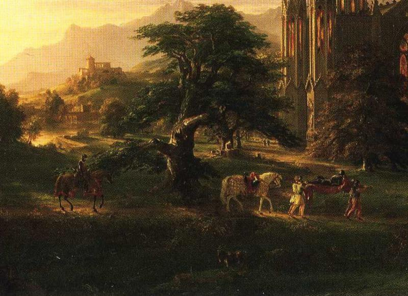 Thomas Cole. The Return. Detail.