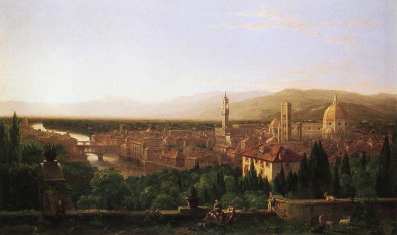 Thomas Cole. View of Florence from San Maniato.
