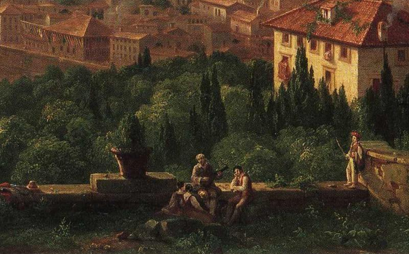 Thomas Cole. View of Florence from San Maniato. Detail.