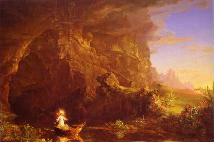 Thomas Cole. The Voyage of Life: Childhood.