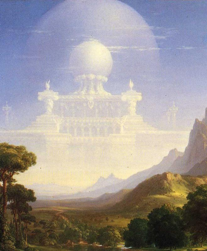 Thomas Cole. The Voyage of Life: Youth. Detail.