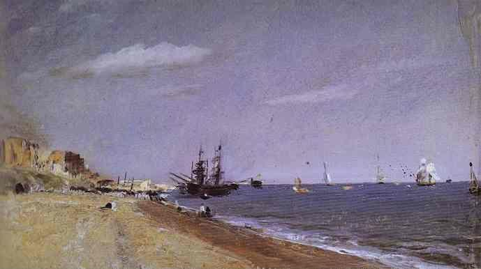 John Constable. Brighton Beach with Colliers.