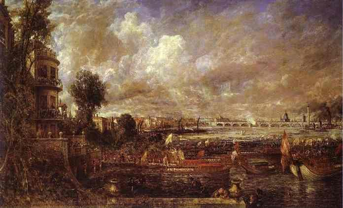 John Constable. Whitchall Stairs, June 18th, 1817 (The Opening of Waterloo Bridge).