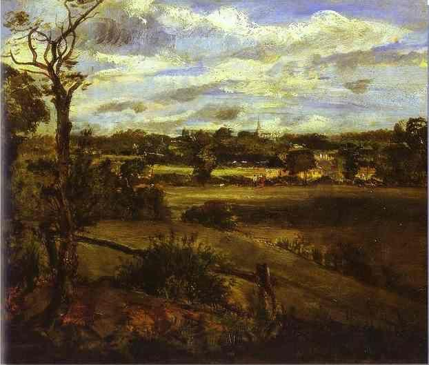 John Constable. View of Highgate from Hampstead Heath.