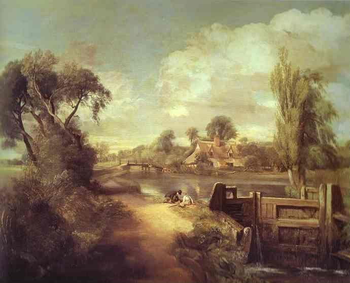 John Constable. Landscape: Boys Fishing.
