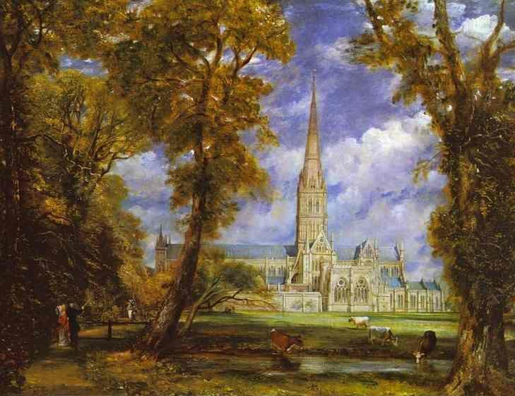 John Constable. Salisbury Cathedral from the Bishop's Grounds.