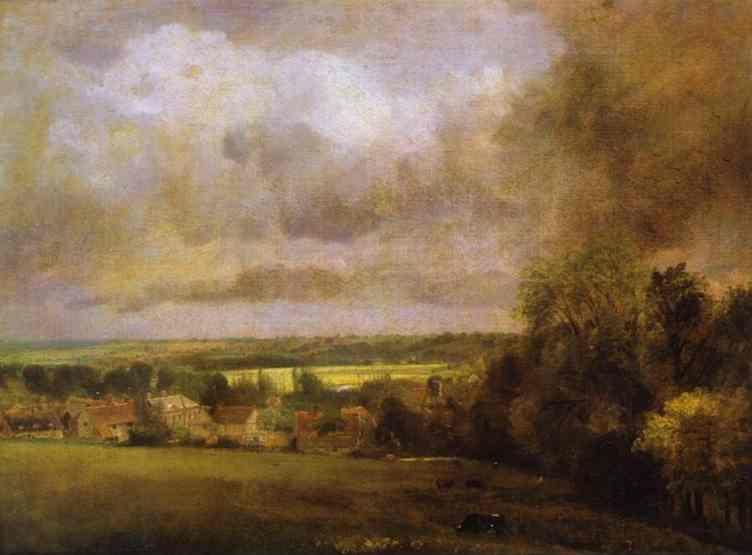 John Constable. The Stour Valley from Higham.