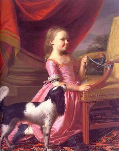 John Singleton Copley. Young Girl with a Bird and Dog.