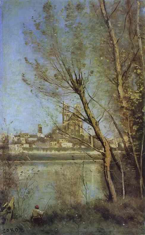 Jean-Baptiste-Camille Corot. The Cathedral of Mantes / La cathedrale de Mantes.