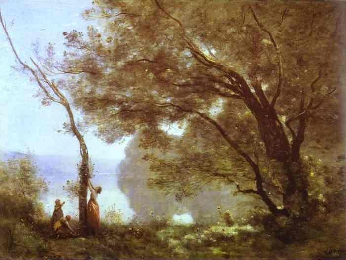 Jean-Baptiste-Camille Corot. Memory of Montefontaine / Souvenir de Montefontaine.