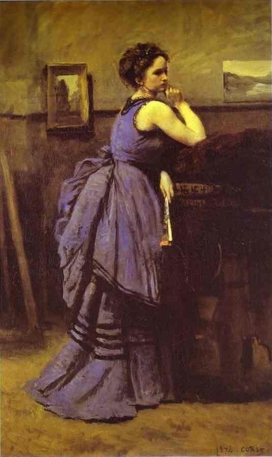 Jean-Baptiste-Camille Corot. Woman in Blue.