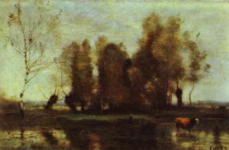 Jean-Baptiste-Camille Corot. Trees on a Swamp.