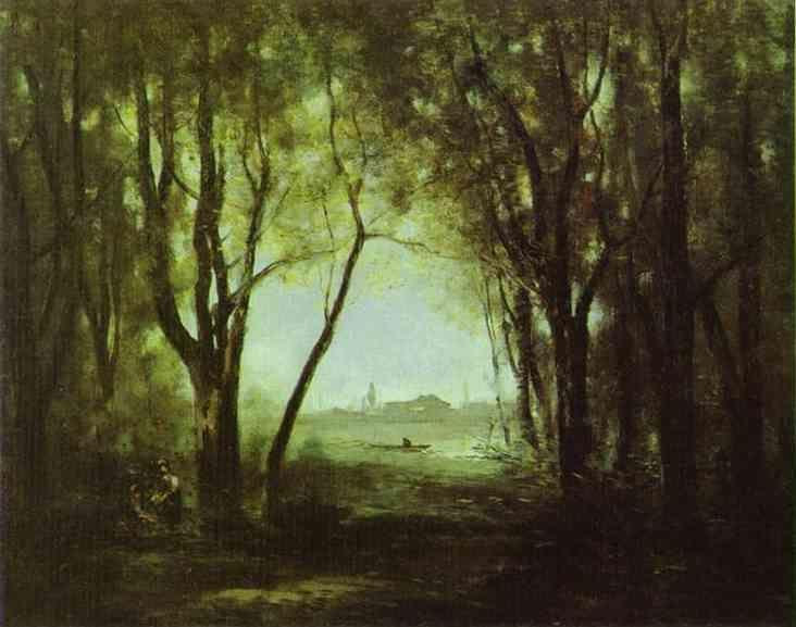 Jean-Baptiste-Camille Corot. Landscape with a Lake.