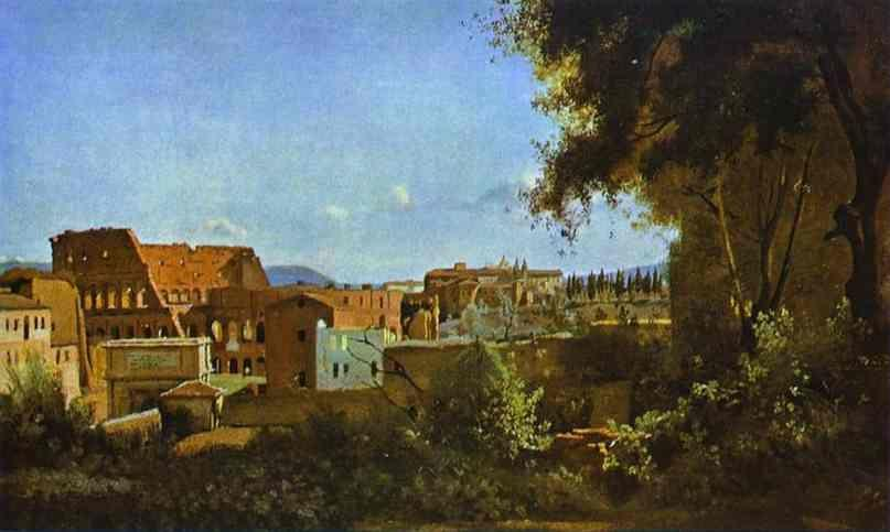 Jean-Baptiste-Camille Corot. The Colosseum: View from the Farnese Gardens.