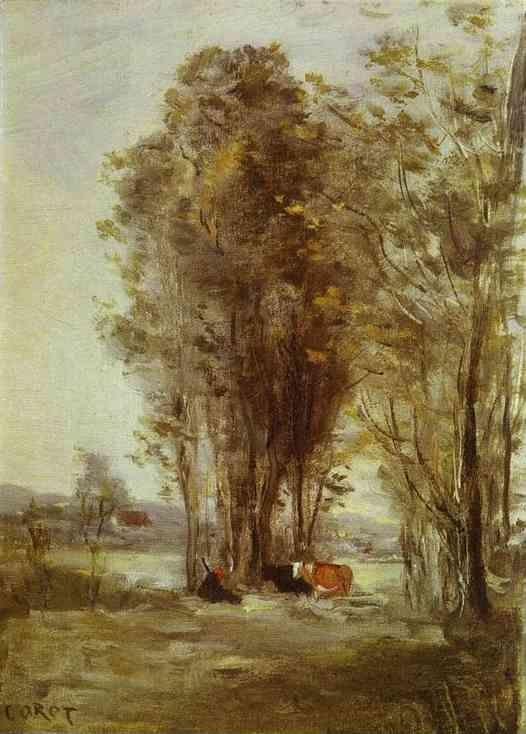 Jean-Baptiste-Camille Corot. Landscape with Cows.