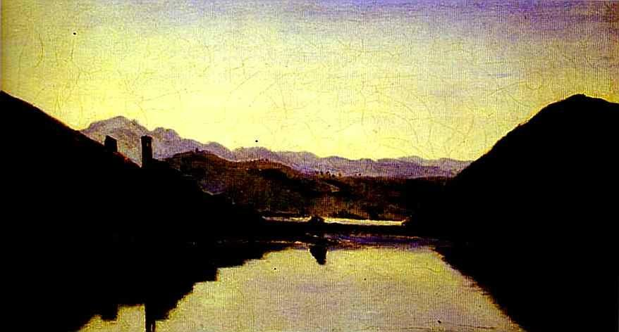 Jean-Baptiste-Camille Corot. The Lake of Piediluco, Umbria.