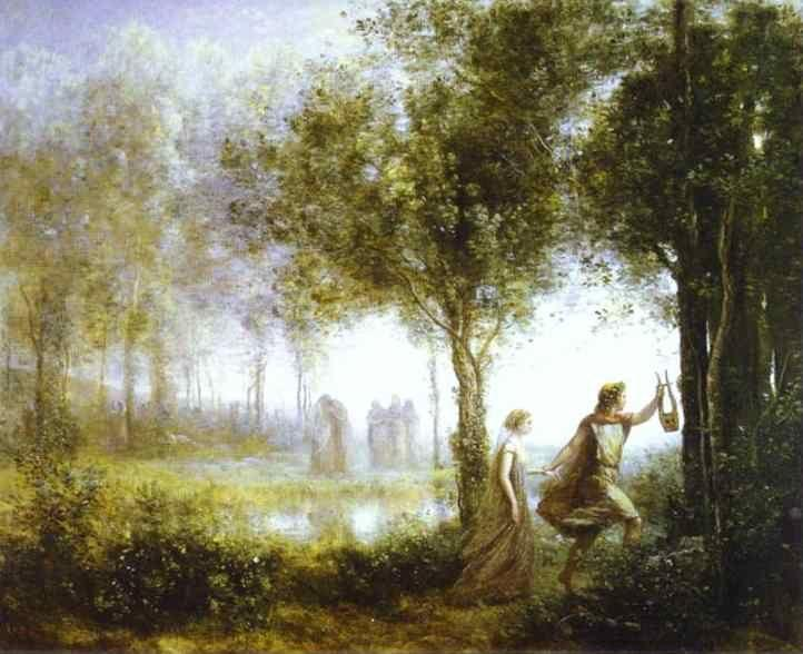 Jean-Baptiste-Camille Corot. Orpheus Leading Eurydice from the Underworld.