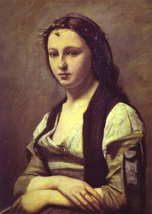 Jean-Baptiste-Camille Corot. Woman with a Pearl.