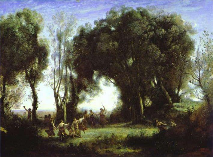 Jean-Baptiste-Camille Corot. A Morning. Dance of the Nymphs.