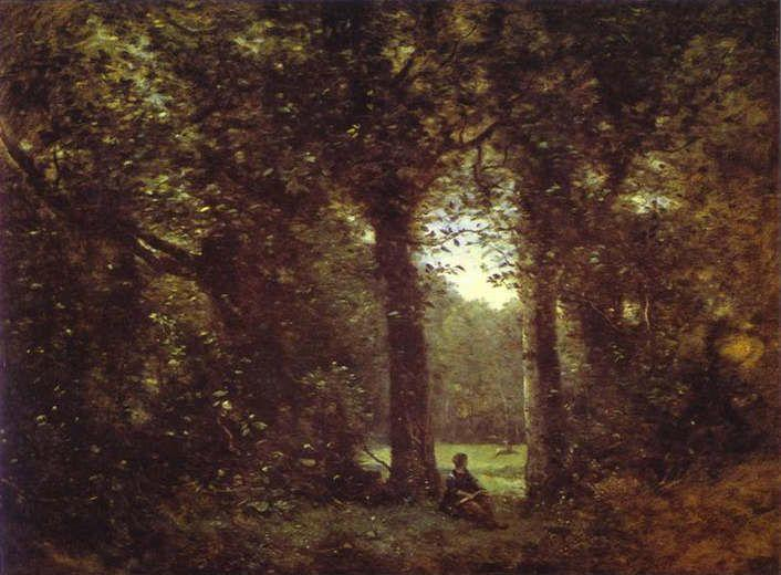 Jean-Baptiste-Camille Corot. The Clearing. Memory of Ville d'Avray.