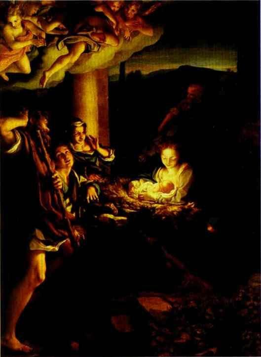 Correggio. Adoration of the Shepherds (The Holy Night).