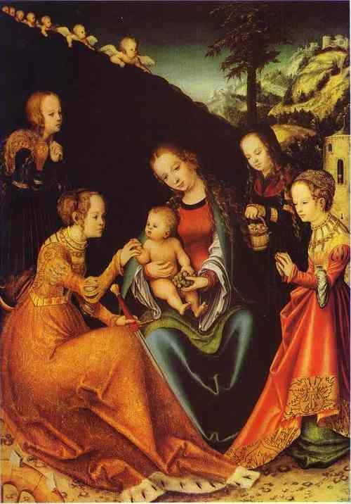 Lucas Cranach the Elder. The Betrothal of St. Catherine of Alexandria.