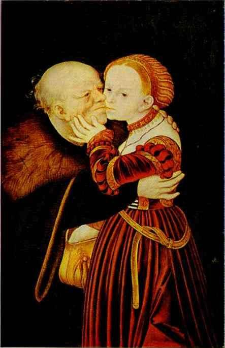 Lucas Cranach the Elder. The Adoring Husband.
