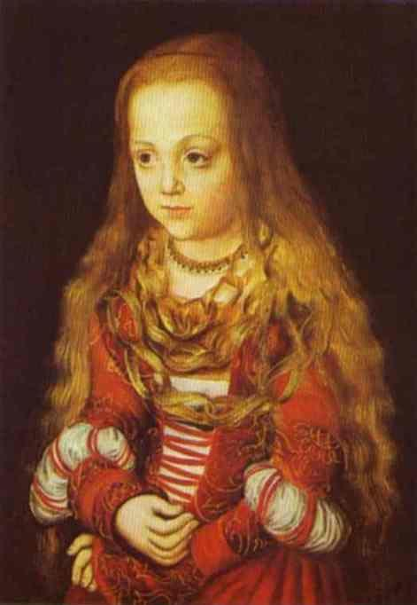 Lucas Cranach the Elder. Portrait of a Princess of Saxony.