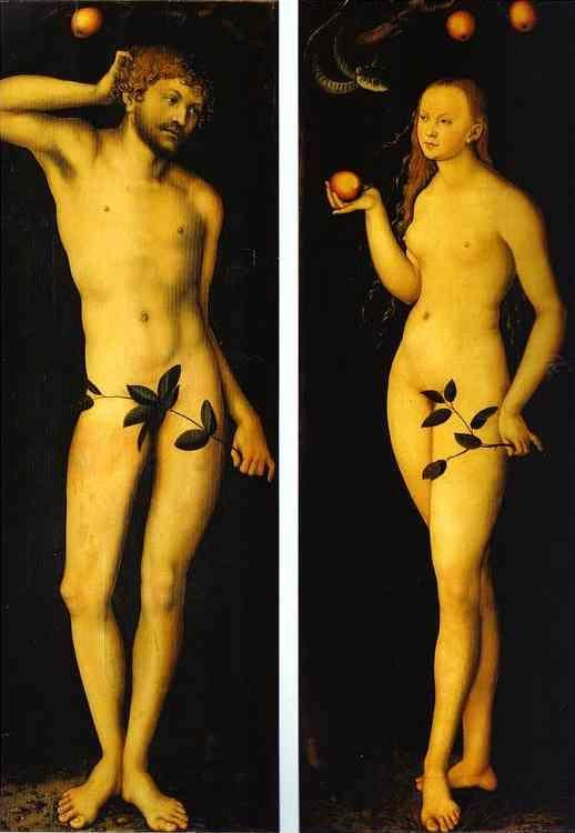 Lucas Cranach the Elder. Adam and Eve.