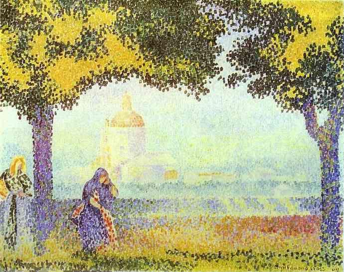 Henri-Edmond Cross. View of the Church of Santa Maria Degli Angeli near Assisi.
