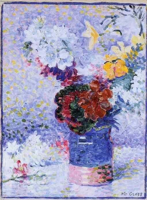 Henri-Edmond Cross. Flowers in a Glass.