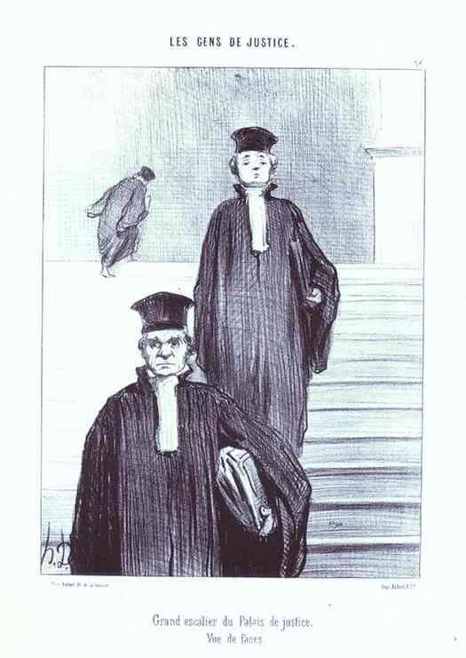 Honore Daumier. Grand Staircase of the Palace of Justice. From the Series Les Gens de justice.