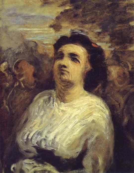 Honore Daumier. Bust of a Woman.