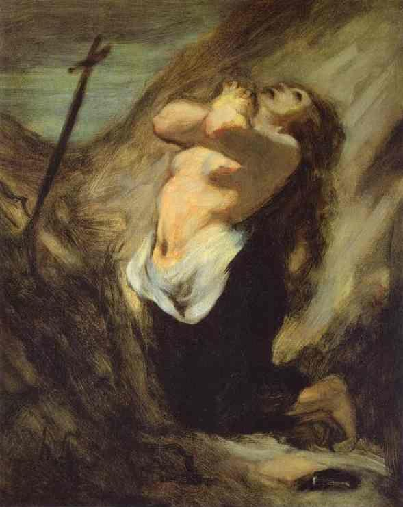 Honore Daumier. St. Magdalene in the Desert.