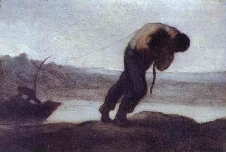 Honore Daumier. The Hauler of a Boat.