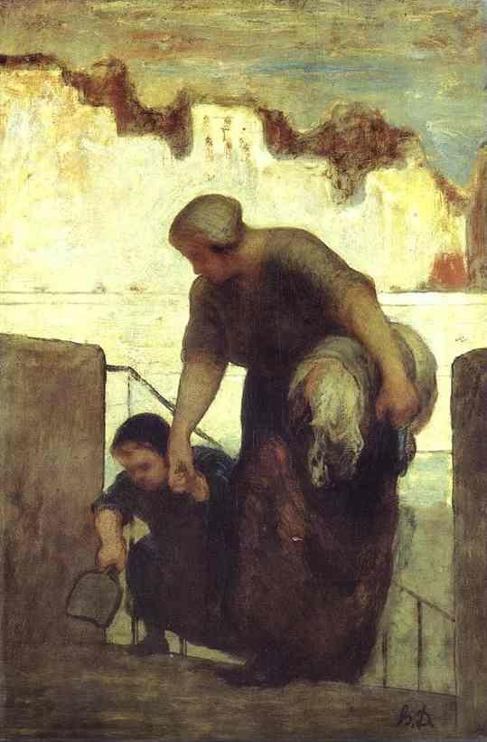 Honore Daumier. The Laundress.