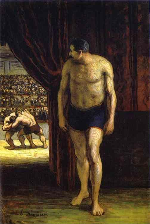 Honore Daumier. The Wrestler.